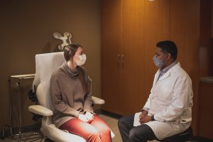 Dr. Shashikant and patient consult